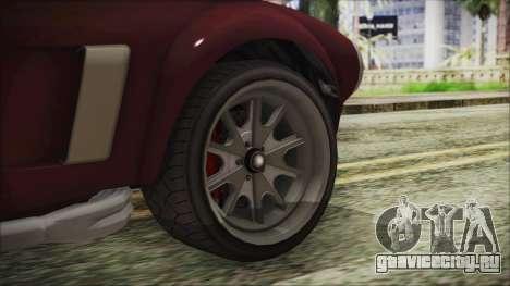 GTA 5 Declasse Mamba IVF для GTA San Andreas вид сзади слева
