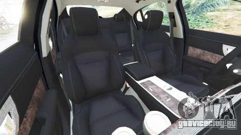 Jaguar XFR 2010 для GTA 5 вид справа