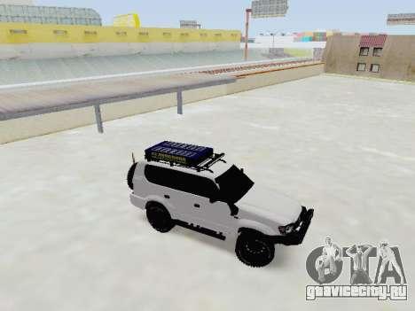 Toyota Land Cruiser Prado off-road LED для GTA San Andreas вид слева