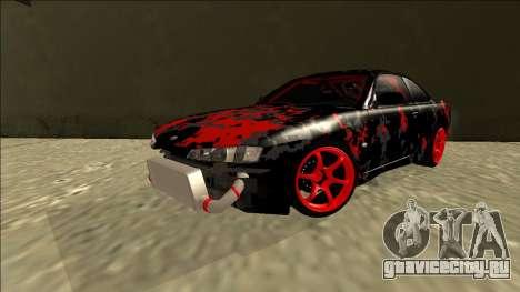 Nissan Silvia S14 Drift для GTA San Andreas вид сзади