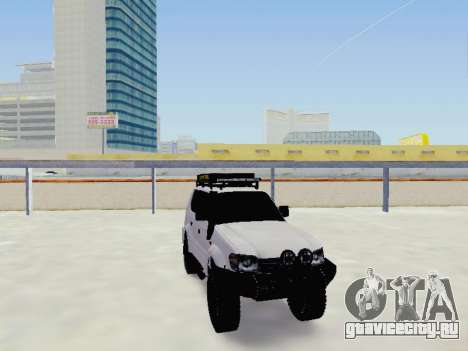 Toyota Land Cruiser Prado off-road LED для GTA San Andreas вид сзади