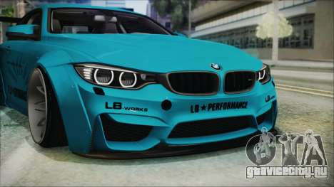 BMW M4 2014 Liberty Walk для GTA San Andreas вид снизу