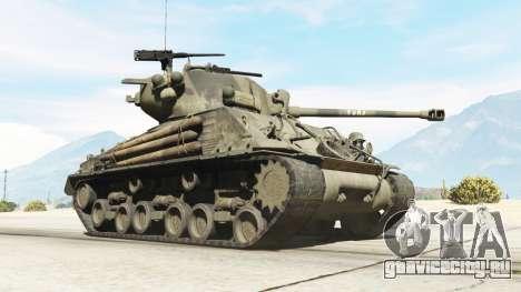 M4A3E8 Sherman Fury для GTA 5 вид справа