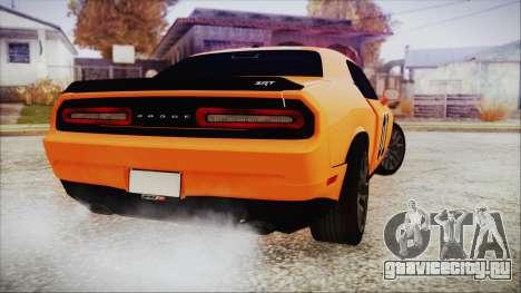 Dodge Challenger SRT 2015 Hellcat General Lee для GTA San Andreas вид слева