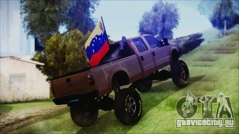 Ford F-250 Grenade Truck для GTA San Andreas вид слева