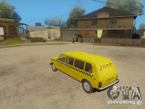 ВАЗ 2131 7-Дверное Такси для GTA San Andreas вид сзади