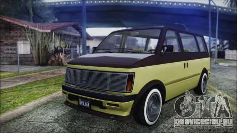 GTA 5 Declasse Moonbeam Custom для GTA San Andreas