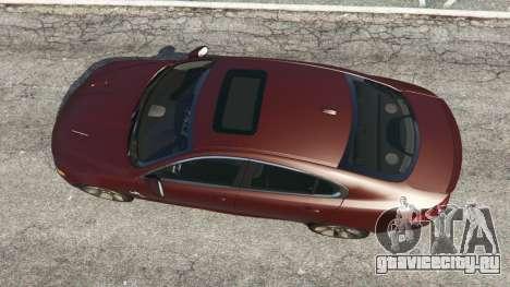 Jaguar XFR 2010 для GTA 5 вид сзади