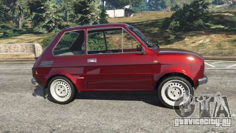 Fiat 126p v1.2 для GTA 5 вид слева