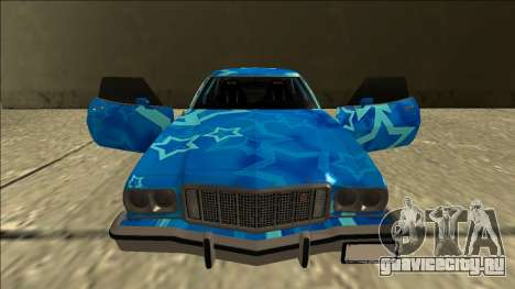 Ford Gran Torino Drift Blue Star для GTA San Andreas вид сверху