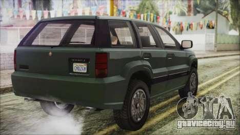 GTA 5 Canis Seminole для GTA San Andreas вид слева