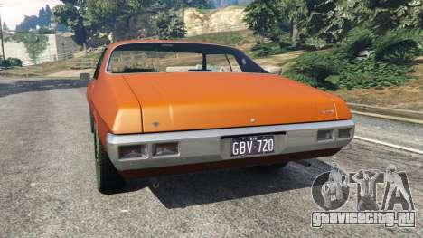 Holden Monaro GTS для GTA 5 вид сзади слева