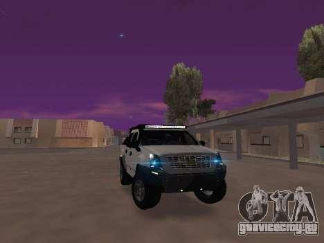 Chevrolet LUV D-MAX 2014 OffRoad (IVF) для GTA San Andreas вид сзади