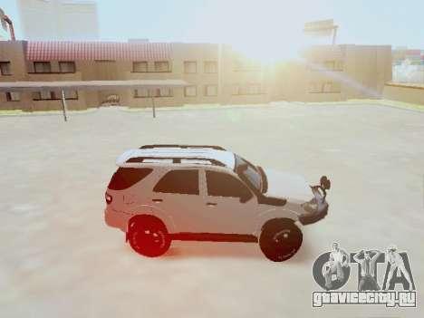 Toyota Fortuner 2012 TRD Off-Road для GTA San Andreas вид слева