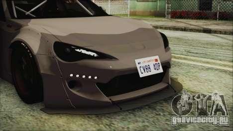 Toyota GT86 Rocket Bunny Tunable IVF для GTA San Andreas вид изнутри