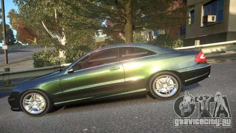 Mercedes CLK55 AMG Coupe 2003 для GTA 4 вид слева