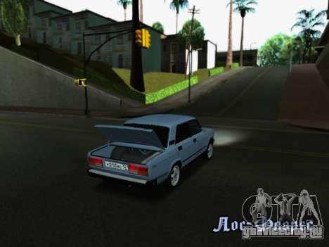 ВАЗ 2107-107 для GTA San Andreas вид снизу