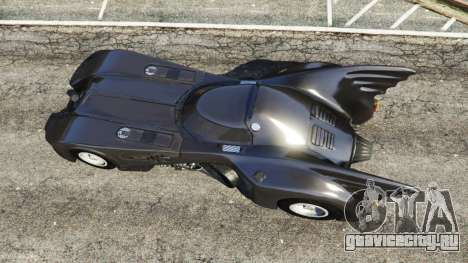 Batmobile 1989 [Beta] для GTA 5 вид сзади