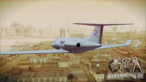 Enterable Customized Shamal для GTA San Andreas вид слева