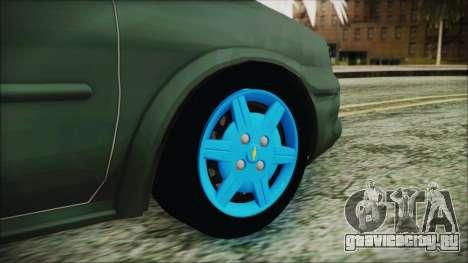 Chevrolet Corsa для GTA San Andreas вид сзади слева