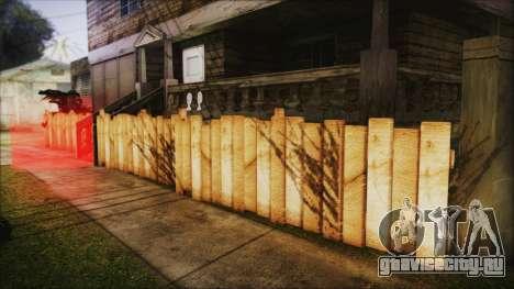 Wooden Fences HQ 1.2 для GTA San Andreas второй скриншот