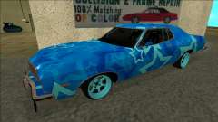 Ford Gran Torino Drift Blue Star