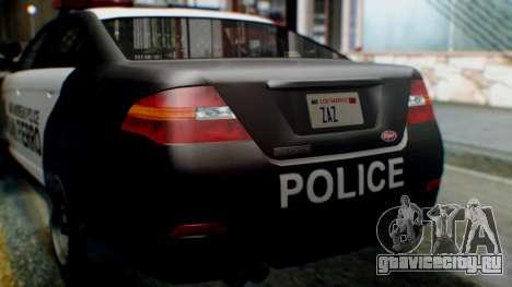GTA 5 Police SF для GTA San Andreas вид изнутри
