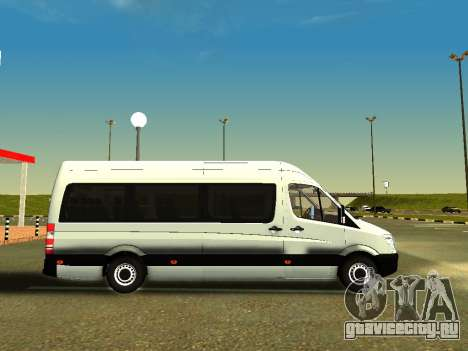 Mercedes-Benz Sprinter Long для GTA San Andreas вид сзади слева