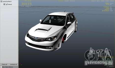 Subaru Impreza WRX STI 1.1 для GTA 5 колесо и покрышка