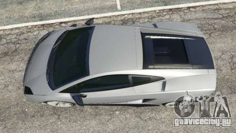 Lamborghini Gallardo LP570-4 Superleggera 2011 для GTA 5 вид сзади