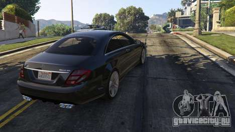 2010 CL65 Mercedes-Benz AMG для GTA 5 вид сзади