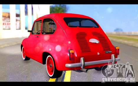 Zastava 750 - The Cars Movie для GTA San Andreas вид слева