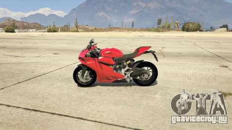 Ducati 1299 Panigale S v1.1 для GTA 5 вид слева