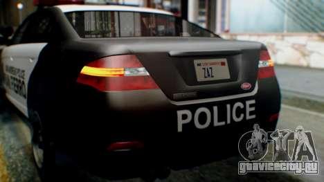 GTA 5 Police SF для GTA San Andreas вид сбоку