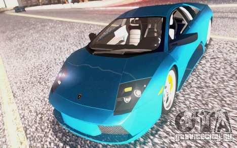 Lamborghini Murcielago 2005 для GTA San Andreas салон