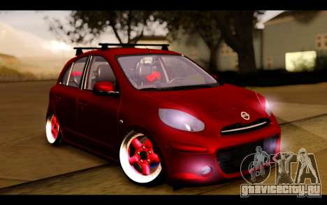 Nissan March 2011 Hellaflush для GTA San Andreas