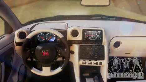 Nissan GT-R Police Rocket Bunny для GTA San Andreas вид сзади