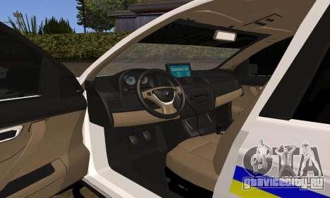 BMW X5 Ukranian Police для GTA San Andreas вид сверху