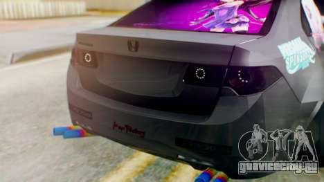 Honda Accord Yukari Itasha для GTA San Andreas вид сзади
