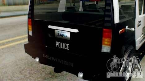 New Police Ranger для GTA San Andreas вид справа