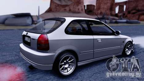 Honda Civic 1.6 Hatchback для GTA San Andreas вид сзади слева