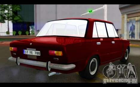 Fiat 124 для GTA San Andreas вид слева