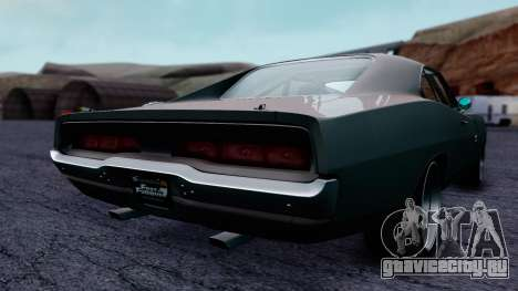 Dodge Charger RT 1970 FnF7 для GTA San Andreas вид сзади слева