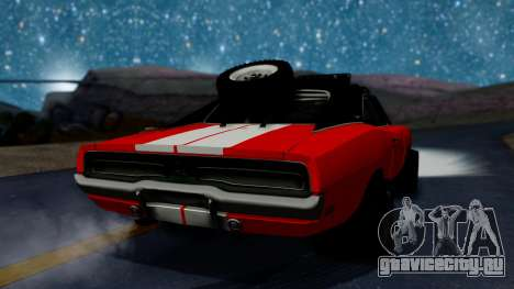 Dodge Charger 1969 Rusty Rebel для GTA San Andreas вид слева