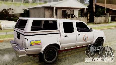 Nissan Frontier ABS CBN для GTA San Andreas вид сзади слева