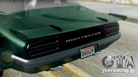 GTA 5 Imponte Nightshade для GTA San Andreas вид справа