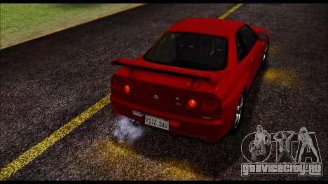 Nissan Skyline R-34 GT-R V-spec 1999 No Dirt для GTA San Andreas вид изнутри