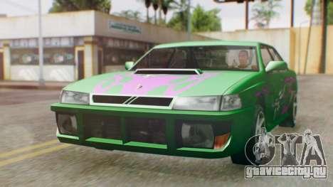 Sultan Винил из Need For Speed Underground 2 для GTA San Andreas вид справа