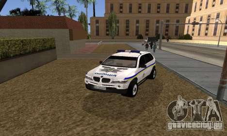 BMW X5 Ukranian Police для GTA San Andreas вид справа
