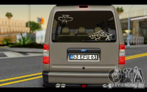 Ford Connect Rizeli для GTA San Andreas вид изнутри